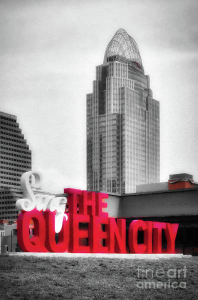 Photograph - The Queen City Selective Color by Mel Steinhauer