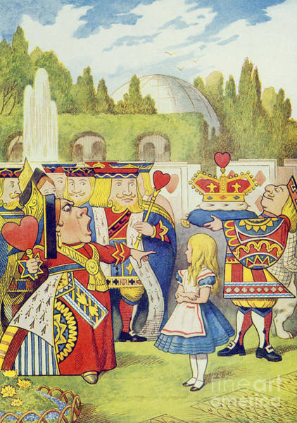Wall Art - Painting - The Queen Has Come And Isnt She Angry by John Tenniel