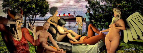 Digital Art - The Queen Mary Is Haunted by Bob Winberry