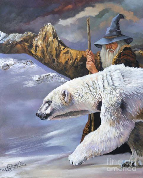Wall Art - Painting - The Quest by J W Baker
