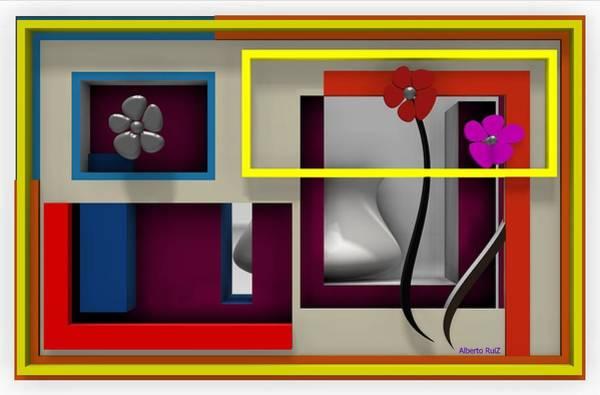 Digital Art - The Quiet Room by Alberto  RuiZ