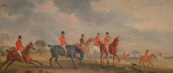 Wall Art - Painting - The Quorn Hunt - A Sketch Of The Artist And His Friends Moving Off by John Ferneley