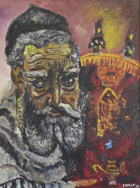 Wall Art - Painting - The Rabbi by Stephanie Sunshine