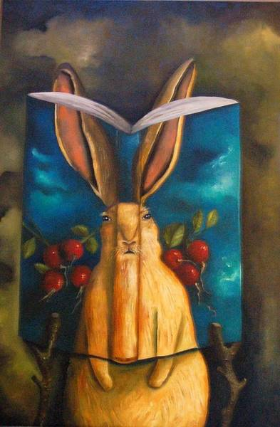 Painting - The Rabbit Story by Leah Saulnier The Painting Maniac