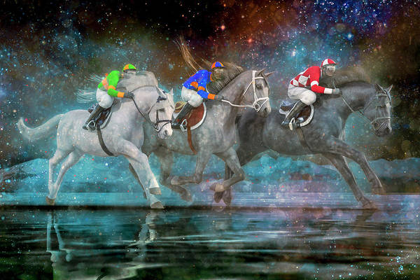 Wall Art - Digital Art - The Race by Betsy Knapp