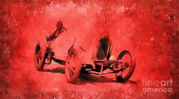 Wall Art - Painting - The Race by Edward Fielding