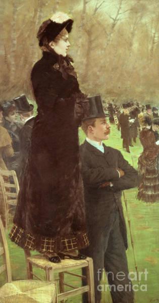 Excitement Painting - The Races At Auteuil by Joseph de Nittis