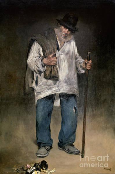 Bone Painting - The Ragman by Edouard Manet