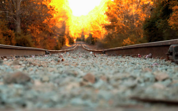 Digital Art - The Railroad Tracks From A New Perspective by Chris Flees