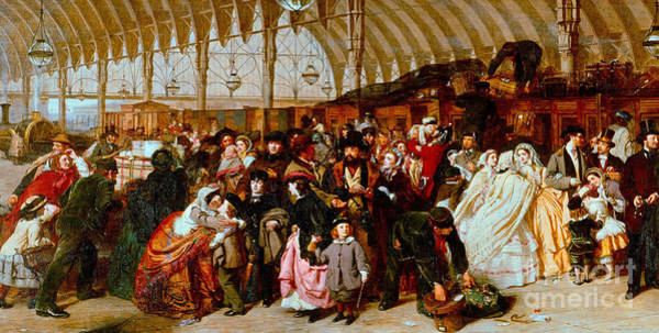 Wall Art - Painting - The Railway Station  Detail by William Powell Frith