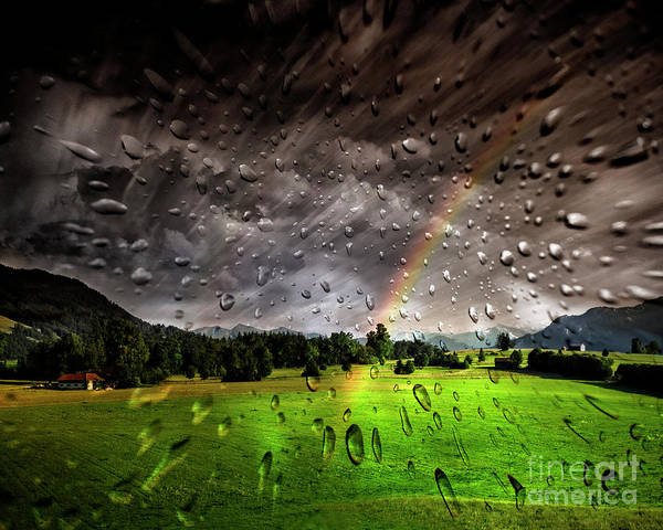 Digital Art - The Rain Is Mainly In The Plain by Edmund Nagele