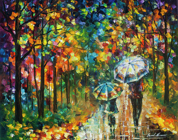 Wall Art - Painting - The Rain Of Childhood by Leonid Afremov