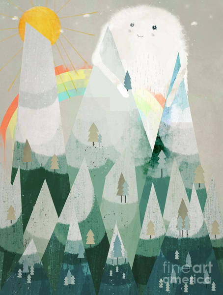 The Wall Painting - The Rainbow Critter by Bri Buckley