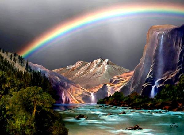 Wall Art - Painting - God's Promise by Ron Chambers