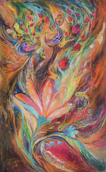 Wall Art - Painting - The Rainbow's Daughter by Elena Kotliarker