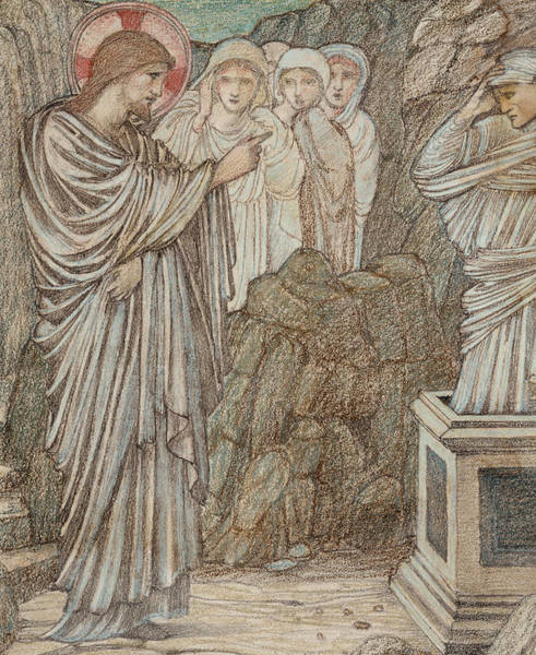 Miracle Drawing - The Raising Of Lazarus by Edward Burne-Jones