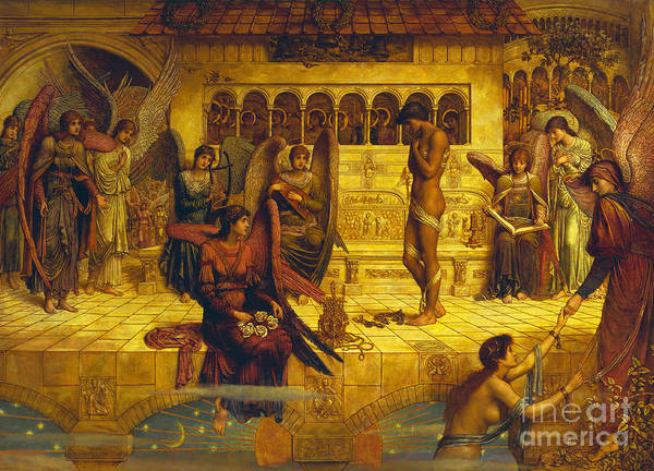 Pre-raphaelite Painting - The Ramparts Of God's House by John Melhuish Strudwick