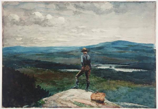 Drawing - The Ranger. Adirondacks by Winslow Homer