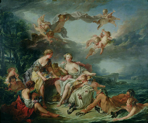 Mythology Painting - The Rape Of Europa by Francois Boucher