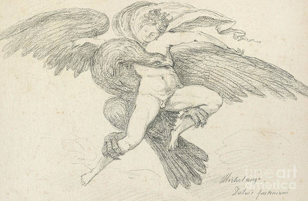 Wall Art - Drawing - The Rape Of Ganymede by Jean-Honore Fragonard