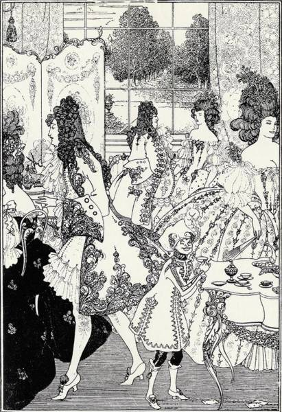 Beardsley Drawing - The Rape Of The Lock By Aubrey by Vintage Design Pics