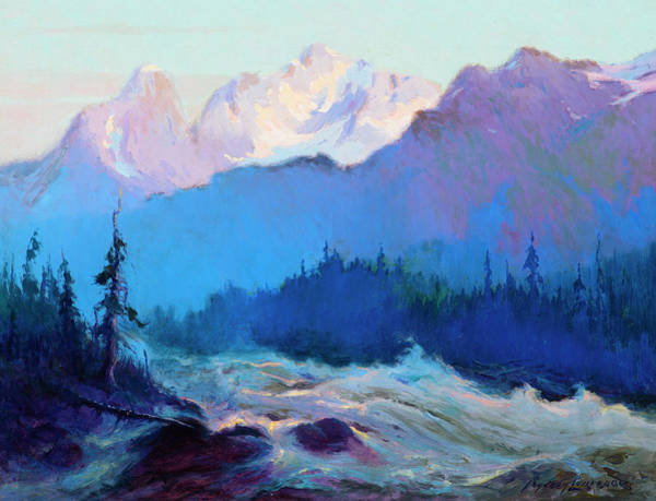 Wall Art - Painting - The Rapids Of The Tokositna River by Sydney Mortimer Laurence