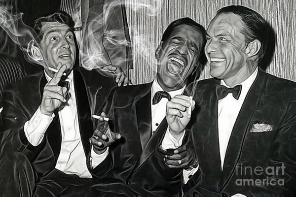 Cool Mixed Media - The Rat Pack Collection by Marvin Blaine