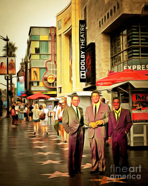 Photograph - The Rat Pack Frank Sinatra Dean Martin And Sammy Davis Jr At Hollywood Walk Of Fame 20170502 by Wingsdomain Art and Photography