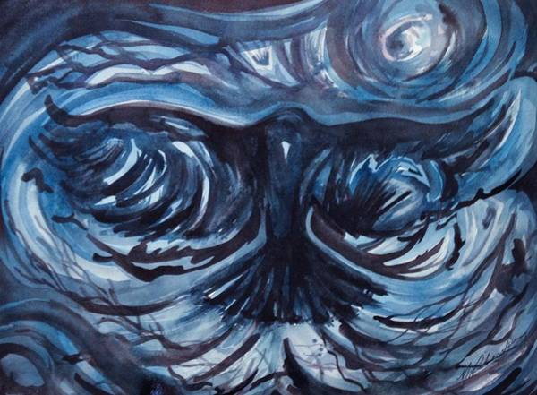 Crone Wall Art - Painting - The Raven by Michael Richardson