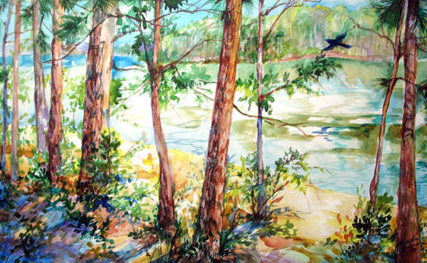 Painting - The Raven On Lake Claiborne by Marcia Baldwin