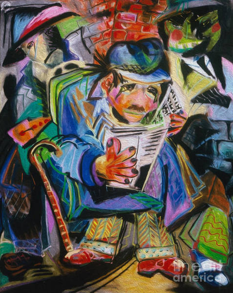 Painting - The Reader by Donna Hall