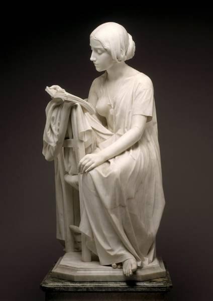 Wall Art - Photograph - The Reading Girl - La Leggitrice by Pietro Magni