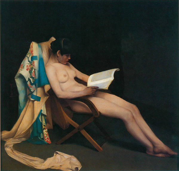 Woman Reading Wall Art - Painting - The Reading Girl by Theodore Roussel