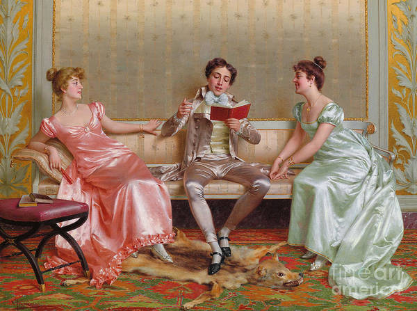 Wall Art - Painting - The Reading by Vittorio Reggianini