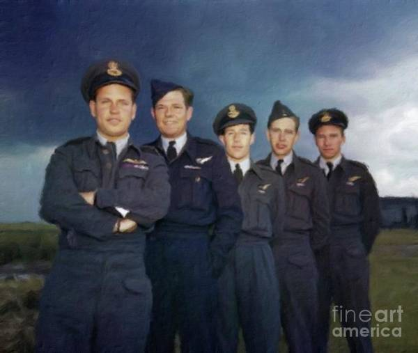 Dday Wall Art - Painting - The Real Dambusters by Mary Bassett