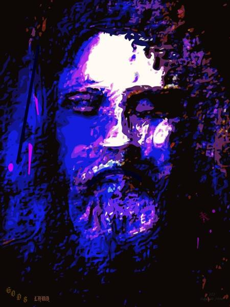 Wall Art - Painting - The Real Face Of Jesus by Larry Lamb