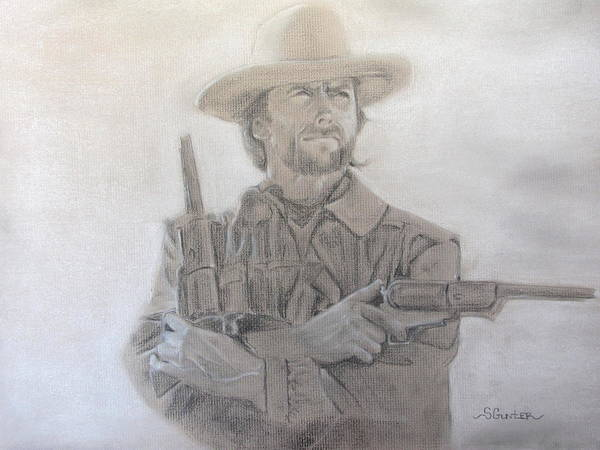 Clint Eastwood Drawing - The Rebel Wales by Sheila Gunter