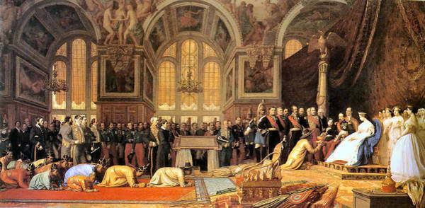 Painting - The Reception Of The Siamese Ambassadors Fontainebleau by Jean Leon Gerome 1824-1904