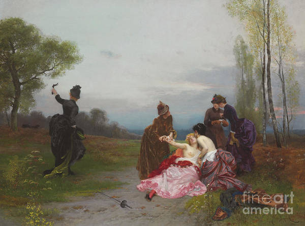 Needs Painting - The Reconciliation, 1884 by Emile Antoine Bayard