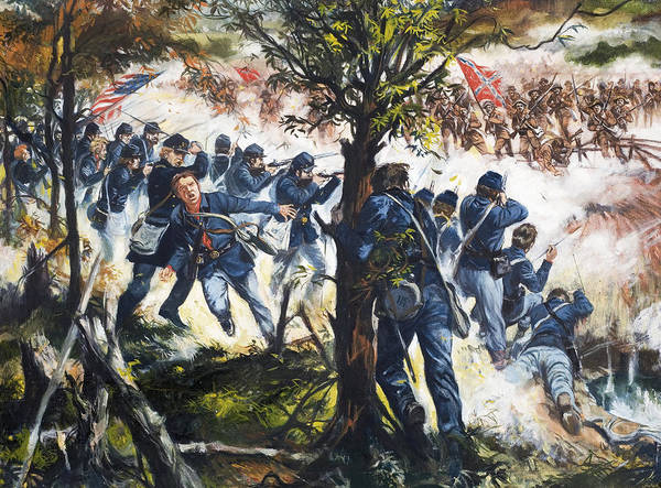 Wall Art - Painting - The Red Badge Of Courage by Gerry Embleton