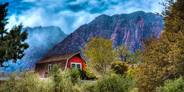Photograph - The Red Barn At The Red Rocks by David Patterson