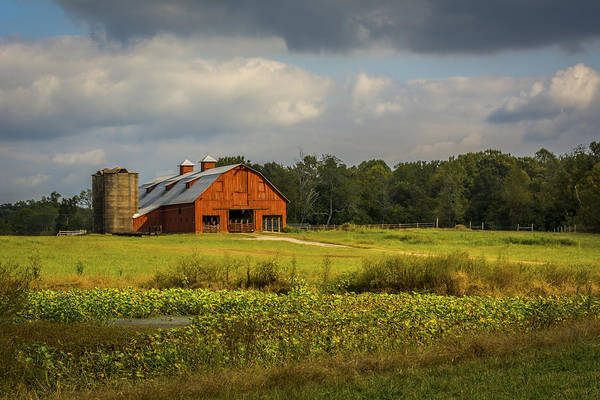 Wall Art - Photograph - The Red Barn by Debbie Stowe