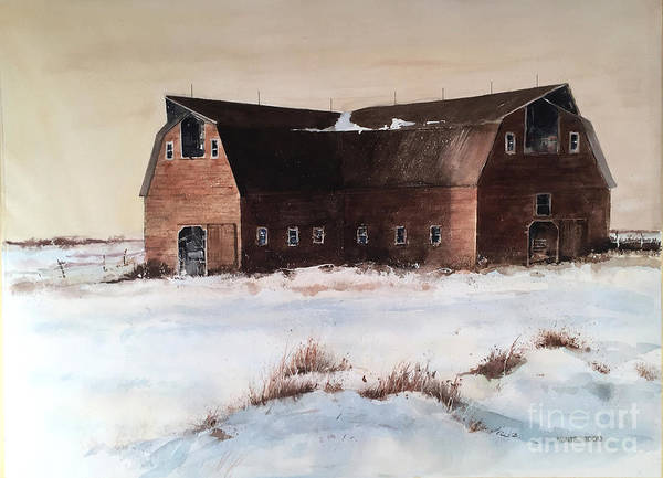 Painting - The Red Barn by Monte Toon