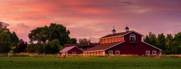 Photograph - The Red Barn - Panoramic by TL Mair