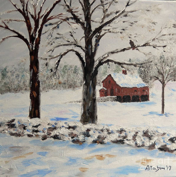Painting - The Red Barn by Stanton Allaben