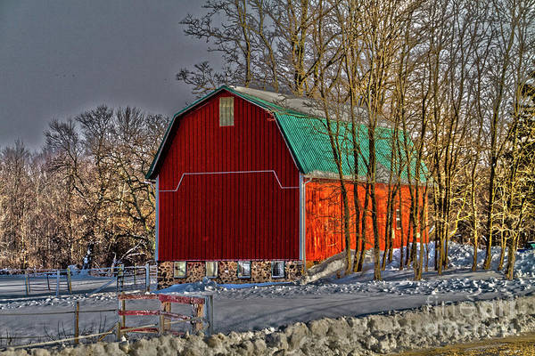 Photograph - The Red Barn by William Norton