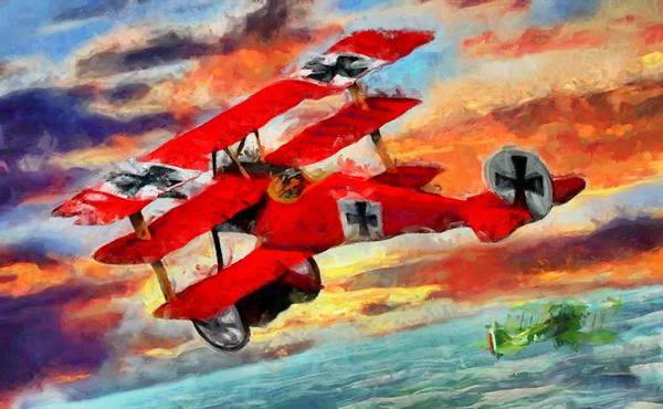 Digital Art - The Red Baron by Caito Junqueira