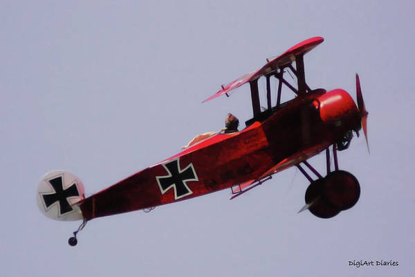 Propellors Digital Art - The Red Baron by DigiArt Diaries by Vicky B Fuller