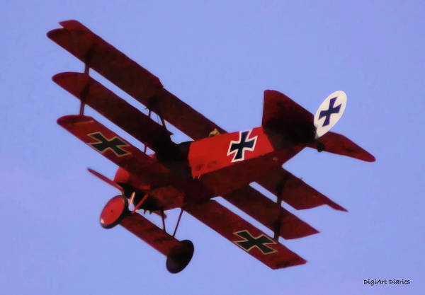 Propellors Digital Art - The Red Baron II by DigiArt Diaries by Vicky B Fuller