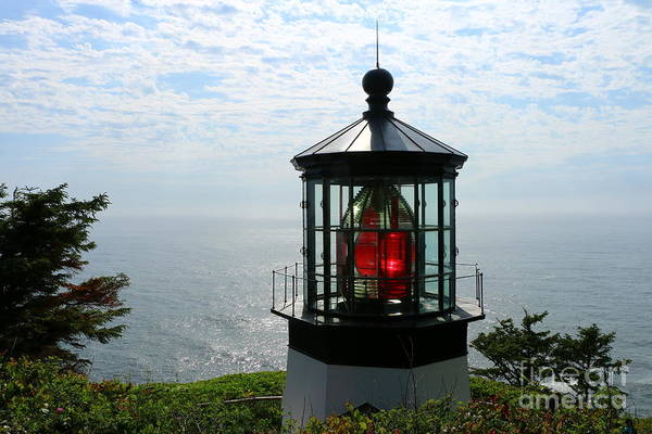 Wall Art - Photograph - The Red Beacon On Tillamock Bay by Christiane Schulze Art And Photography